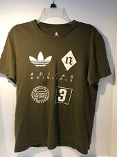 Adidas Originals  Youth Short Sleeve Shirt Green Youth Medium