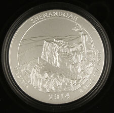 2014 P Shenandoah America the Beautiful 5 oz Silver Coin NR2 Collector's Edition