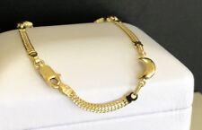 Stunning Classy smooth half moon 18KY Gold Ladies bracelet Italian Made