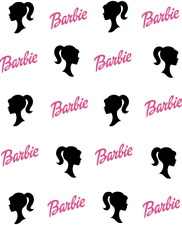 Barbie Silhouette Waterslide /Water Transfer Nail Decals/Nail art