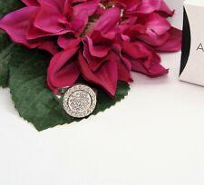 Elegant! Silvertone Pave Rhinestone AVON CELINDA REVERSIBLE RING Size 6 NIB!