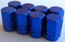 Tire Valve Stem Caps For Car, Truck, Bike, Motorcycle (2 sets - Dark Blue)
