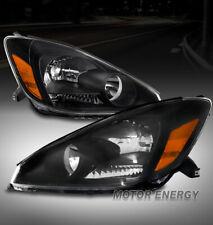 For 04-05 Toyota Sienna Van Replacement Headlight Headlamp Black Left+Right Pair
