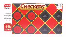 Funskool Checkers +5 Games Board Game 2 Players Indoor Game Age 7+