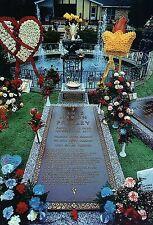 Grave of Elvis Presley, Meditation Garden, Graceland, Memphis, TN --- Postcard