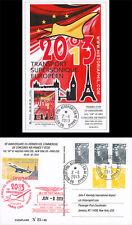 """Carte Maximum """"10 ans Dernier Vol VIP CONCORDE Air France Paris-New York"""" 2013"""