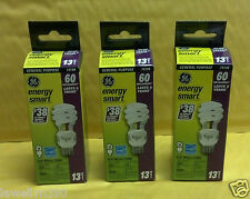 3 Pack Ge 74198 FLE13HT3/2/SW/BX Energy Smart 13W Soft White Spiral Light Bulb