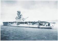 Lg B&W Photo  - HMS HERMES 1938 - Sunk WW2  (T80)