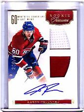 2011-12 PANINI ROOKIE ANTHOLOGY #138 AARON PALUSHAJ AUTO JERSEY RC #200/499 $25