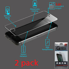 iPhone 5 5S 5C SE High Quality Premium Tempered Glass Screen Protector - 2 Pack
