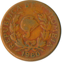 COIN / COLOMBIA / 5 CENTAVOS 1960     #WT5878