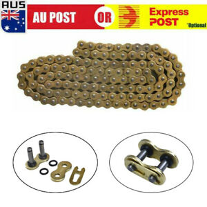 New 520x120 ATV Motorcycle O-Ring Drive Chain 520 Pitch 120 Links Gold AU D