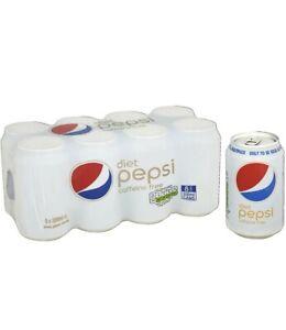 Rare caffeine free Pepsi Diet Cans 8 x 330ml fast post fizzy drinks zero sugar