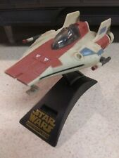 Star Wars Action Fleet A-Wing Fighter Galoob 1996 Vehicle w/Stand