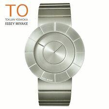 ISSEY MIYAKE TO Tokujin Yoshioka Design Unisex SEIKO Quartz Watch Matte Silver