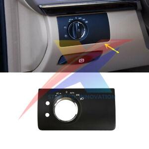 For Mercedes-Benz X164 W164 ML GL Headlight Control Switch Panel 2 Hole Black