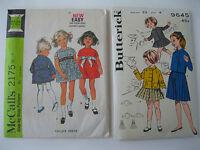 Lot of 2 VTG  Children's Girls Sewing Patterns, Size 4