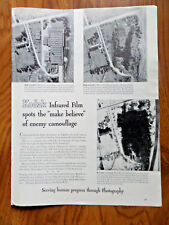 1943 Kodak Ad WW 2 Theme Infrared Film Spots the Make Believe Enemy Camouflage