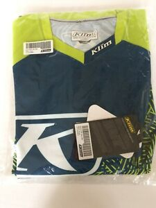 Klim DAKAR Jersey Lime Blue Men's Large Brand New