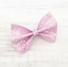 Pastel Pink sparkly glitter hair bow - Kawaii - Mermaid