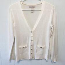 Banana Republic Wool Blend V-neck Button Up Sweater SZ Small Petite