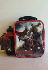 Zak Marvel Avengers Age of Ultron Insulated Lunch Bag with Water Bottle - New