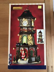 Lemax Christmas Clock Tower #45735 Brand New
