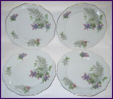 VINTAGE MITTERTEICH Bavaria LILAC LOT / SET of 4 DINNER PLATES VGC MORE AVAILABL