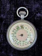 RARE  New England Watch Co. Pocket Watch W/ Porcelain Playing Card Dial  c.1900