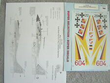 """MIG-29 """"2 EAST/WEST GERMANY"""" MICROSCALE DECALS 1/32"""