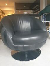 Luxury Black Leather Armchair