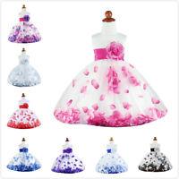 Girls Formal Dress Petals Flower Girls Princess Pageant Wedding Easter Dress