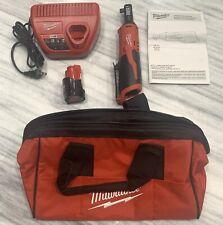 Brandnew Milwaukee 2457-21 M12 3/8 in. Ratchet Kit New Battery Charger Tool Bag