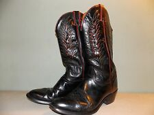 1970's Black Leather Wrangler Western Style Boots Usa Made Men's Size 10 D used