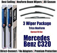 3pk Wipers Front/Rear NeoForm fit 2001-2003 Mercedes-Benz C320 - 16240/220/30160