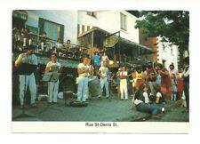 RUE ST. DENIS STREET, MONTREAL, QUEBEC, CANADA CHROME POSTCARD