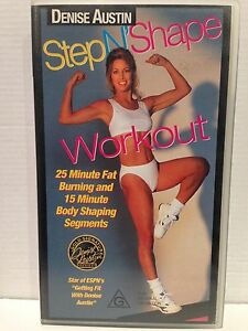 DENISE AUSTIN ~ STEP N' SHAPE WORKOUT ~ AS NEW VHS VIDEO