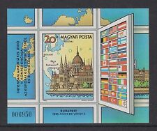 UMM MNH STAMP SHEET HUNGARY EUROPEAN SECURITY CONFERENCE 1983 IMPERFORATE 006950