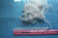 "Vtg Cotton Valenciennes Insertion lace trim For Dolls Crafts Sewing ""Floral"""