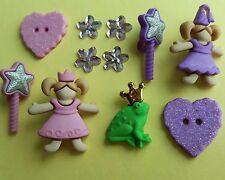 Petite princesse grenouille prince baguette magique fleur dress it up bouton embellissements