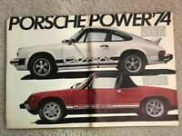 Red & White 1974 Porsche 911 & Carrera 2-Page Print Ad ~ PORSCHE POWER '74