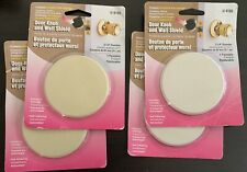 "4 Pack Prime Line U9185 3-14"" Ivory Textured Door Knob & Wall Shield Easy To Use"