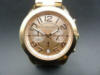 NEW OLD STOCK MICHAEL KORS MERCER MK5727 CHRONOGRAPH ROSE GOLD QUARTZ LADY WATCH