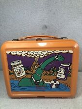 Vintage Aladdin Orange Kroger Peanut Butter & Jelly Beach Brontosaurus Lunch Box