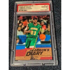 2003-04 Upper Deck LeBron's Diary- Lebron James Rookie PSA 10 GEM RC LJ2 Pop 26
