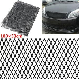 Car Racing Truck Aluminium Front Intake Rhombus Net Mesh Grille 100×33cm Black