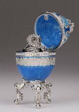 Faberge Ei  & Eule Kasten von Keren Kopal mit oesterreichischen Kristallen