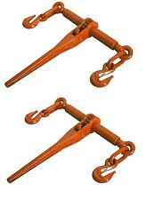 "2 PACK Ratcheting Load Binder 5/16""-3/8"" Chain Ratchet Boomer Tie Down Rigging"