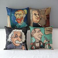 "17"" Retro Vintage Home Decorative Cotton Linen Throw Pillow Case Cushion Cover"