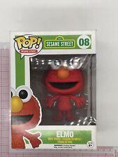Funko Pop! Sesame Street #08 Elmo Vinyl Figure NOT MINT BOX, SEE PICS E05